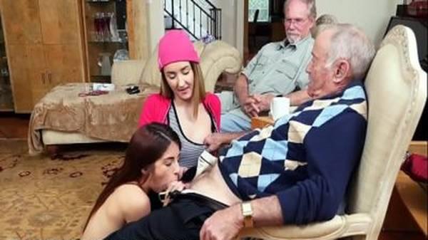 Gostosas novinhas com velhos tarados fudendo gostoso