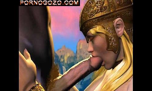 Porno 3D hentai deusa gostosa sofrendo na rola no mundo da putaria